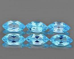 8x4 mm Marquise 6 pcs 4.04cts Sky Blue Topaz [VVS}