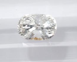 1.25ct unheated white sapphire