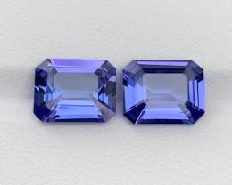8.44 carat Natural Tanzanite pair.