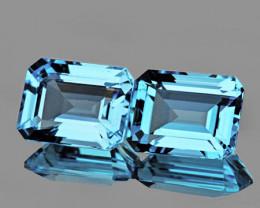 8x6 mm Octagon 2 pcs 3.75cts Sky Blue Topaz [VVS]