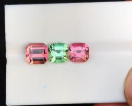 5.30 Ct Natural Green & Pink Transparent Tourmaline Gemstones Parcels