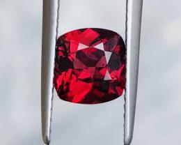 ~NO RESERVE~Certified 1.89 Carats Natural Blood Red Rhodolite Garnet Nice C