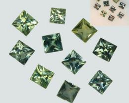 0.74 Cts Natural Color Change Sapphire  2.6-2.2mm Princess Cut 10Pcs Parcel