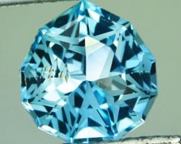8.55 Cts Genuine 100% Natural Swiss Blue Topaz Fancy Custom Cut REF VIDEO
