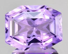 6.32 Cts Excellent Facet Natural Purple Amethyst Cushion Master Cut Ref VID