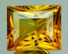 4.55 Cts Supreme Grade Natural Citrine Princess Custom Cut Gem Ref VIDEO