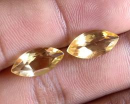 7x14mm Citrine Pair Natural Marquise Faceted Gemstone VA1306