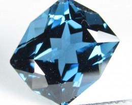 6.94Cts Sparkling Natural London Blue Topaz Cushion Custom Cut Loose Gem