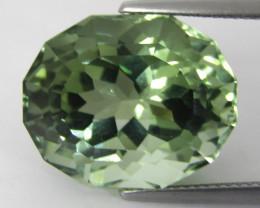 16.92Cts Stunning Natural Green Amethyst (prasiolite) Oval Custom Cut