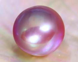 12.7mm 13.75Ct Natural Tahitian Purple Black Pearl C2303