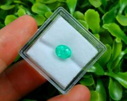 Muzo 1.02Ct Natural Colombian Vivid Green Color Muzo Emerald C2304