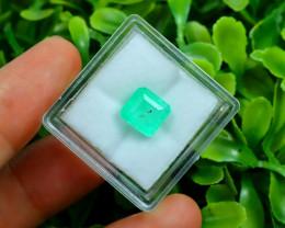 Muzo 2.27Ct Natural Colombian Vivid Green Color Muzo Emerald C2310