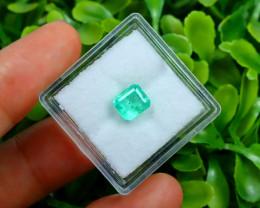 Muzo 1.03Ct Natural Colombian Vivid Green Color Muzo Emerald C2314