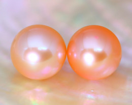 8.2mm 7.97Ct Natural Australian South Sea Orange Color Pearl C2315