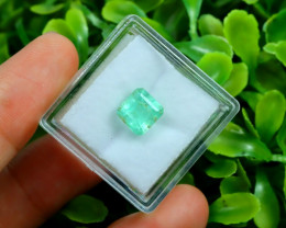 Muzo 1.71Ct Natural Colombian Emerald Neon Green Mint Beryl C2320
