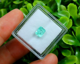 Muzo 1.00Ct Natural Colombian Emerald Neon Green Mint Beryl C2323
