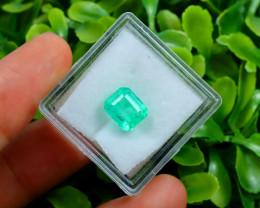 Muzo 2.32Ct Natural Colombian Vivid Green Color Muzo Emerald C2326