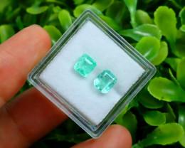 Muzo 1.57Ct Natural Colombian Emerald Neon Green Mint Beryl C2335