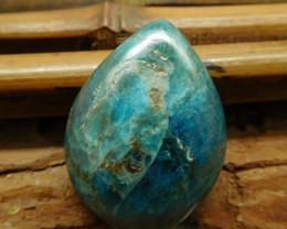 Blue gemstone apatite cabochon (G3009)