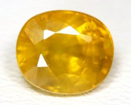 Sapphire 2.87Ct Oval Cut Natural Thailand Yellow Color Sapphire B2620