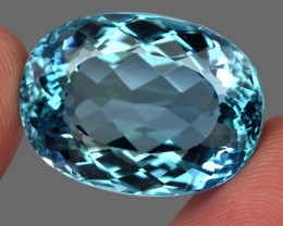61.26  ct Natural Earth Mined Top Quality London Blue Topaz Brazil