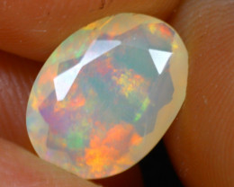 Welo Opal 1.36Ct Natural Ethiopian Faceted Play of Color Opal D2830/A44