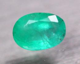 1.25Ct Natural Zambia Green Emerald Oval Cut Lot V8155