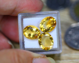 11.05ct Natural Yellow Citrine Oval Cut Lot V8712