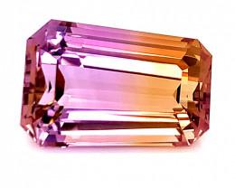 24.50 Cts  FALWLESS BOLIVIAN  AMETRINE perfect  cut   Gemstone