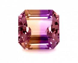 19.65 Cts  FALWLESS BOLIVIAN  AMETRINE Perfect  cut   Gemstone