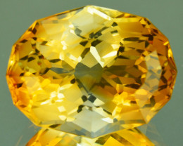 11.26 Cts Extraordinary Facet Natural Citrine Oval (Precision Cut) Ref VIDE