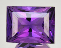 6.42 Cts Genuine 100% Natural Amethyst Princess Shape Custom Cut REF VIDEO