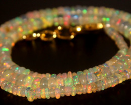 42.20 Crts Natural Ethiopian Welo Opal Beads Necklace 802