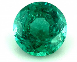 ~NR~1.040(ct)Emerald No Oil Gorgeous Color Round Faceted Gemstone