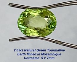 2.03ct Green Tourmaline - Unheated / 9x7mm