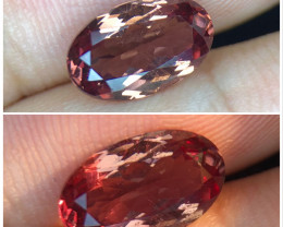 2.590(ct)Marvelous Color Change Garnet Faceted Gem from Mahenge Tanzania