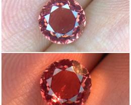 1.440(ct)Brilliant Color Change Garnet Round Faceted Gemstone