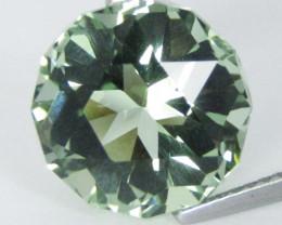 6.40Cts Stunning Natural Green Amethyst (prasiolite) Round precision Cut