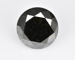 Diamond 3.10 Cts Natural Fancy Black Color