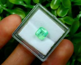 Muzo 1.67Ct Natural Colombian Emerald Neon Green Mint Beryl B2414