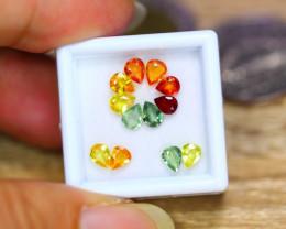 3.97ct Natural Fancy Color Sapphire Pear Cut Lot A45