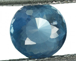 1.14 Cts Natural Silky Blue Apatite 7mm Round Cut Brazil