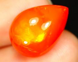 Welo Orange Opal 4.36Ct Natural Ethiopian Welo Opal Cabochon B2435