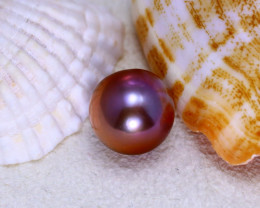 11.90mm 12.28Ct Natural Tahitian Aubergine Color Pearl ER583/8A244