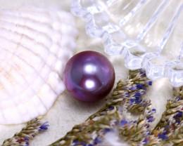 10.80mm 9.03Ct Natural Tahitian Aubergine Color Pearl ER585/A244