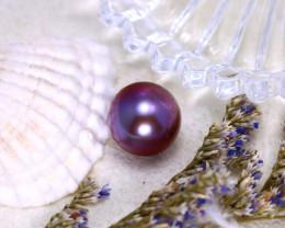 10.90mm 9.36Ct Natural Tahitian Aubergine Color Pearl ER586/A244
