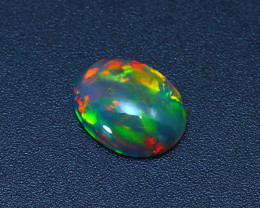 Welo Opal 2.56Ct Natural Ethiopian Smoked Play of Color Opal  ER591/A3