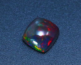 Welo Opal 3.54Ct Natural Ethiopian Smoked Play of Color Opal  ER601/A3