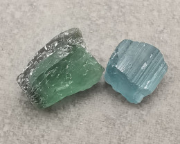 Tourmalines, 3.68ct, definitely stones you can cut!
