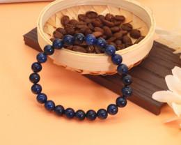 8.00mm 119.77Ct Natural  Blue Jasper Beads Bracelet EN153
